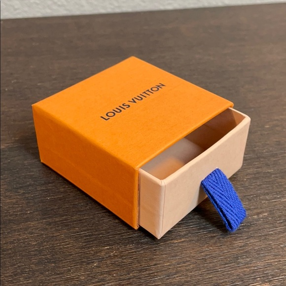 "Louis Vuitton small gift box jewelry 2.5"" orange"
